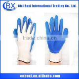 Custom skid resistance security industrial glove,industrial rubber glove,latex rubber coated work gloves