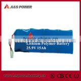 High capacity 7S3P 25.9V 15Ah Lipo battery Pack with BMS and Charger 656699                                                                         Quality Choice