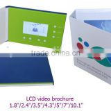 "PVC business cards with lcd screen 2.4""/2.8""/4.3""/5""/7""/10"" custom video greeting card"
