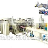 Fiber winding weave PVC plastic coated lay flat hose production line