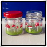 clear glass wedding candy jars with with decal 40ml