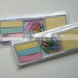 Plastic cheap and colorful promotional sticky note pad