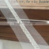 vintage white beaded lace trim for wedding dress,handmade clothing decorative laces