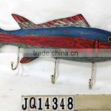 Decorative animal wall hooks Wood Fish Vintage Wall Hook