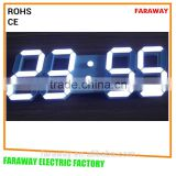 Patented 3D cubic white led clock with remote