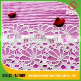 [NTSUNRISING]thin flower embroidery indian george mk bulk lace fabric for fashionable dress