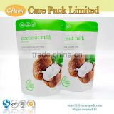 Food grade heat seal zipper food packaging printing for coconut milk                                                                                                         Supplier's Choice