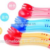 silicone baby spoon temperature sensoring spoon set baby feed tool