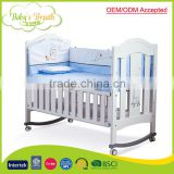 WBC-29 OEM/ODM accepted custom made multi-function baby swing cot bed wood                                                                         Quality Choice