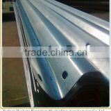 spraying plastic road safety crash barrier for sale, Q235 hot dip galavanized guardrail beam