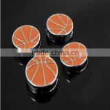 2015 alloy basketball 8mm slide charms for leather bracelet jewelry