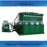 Combined electric motor hydraulic drive patent test bench for diesel fuel injection pumps