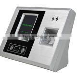 Face & Fingerprint recognition time attendance recorder with software