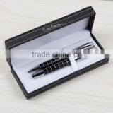 Wholesale New Gift Idea Metal Double Pen Gift Set with Superb PU Gift Box