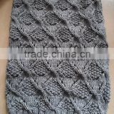 Hot Sale Women's Fat 100%Acrylic Soft Chunky Knitted Winter Neck Round Scarf Knitting Cowl