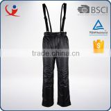 China winter waterproof black women detachable suspenders ski pants