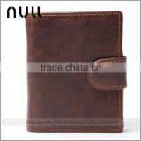 Durable business work portable design short size export items oem factory China crazy horse trifold man leather wallet