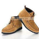 man moccasin boots factory price high quality Italy designer new style man leather shoes