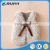 baby girl fake fur closes, faux fur winter vest