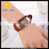 WJ-5280 vintage pretty genuine leather fashion best selling quartz elegance ladies bracelet watch
