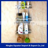 3 tier Triangle Bathroom Basket Bathroom Corner Shelf Hanger aluminum Bath Shelf Bathroom Storage Basket