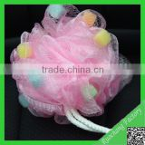 Different nylon bath sponge,bath mesh sponge back scrubber