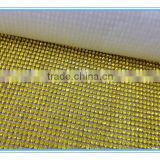 Hot fix glass rhinestone mesh aluminium sheet mesh