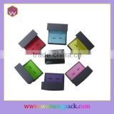 Fashion Colorful Leatherette Paper Cufflink Box Small Rigid Paper Cufflink Box(WH-0290)