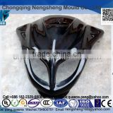 Black Injection molded ABS Fairing kit for motorcycle parts. Free design plastic E-bike parts.