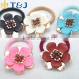 >>Simple Flower Hair Band Korean Style Fashion Jewelry Multi Color Bulk Elastic Hair Band For Girls