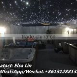 China wholesale ceiling led luminous fiber optics fabric led curtain with dmx control