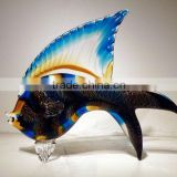 glass fish and art glass table decoration xo-2010024A lucky fish and art glass home decoration