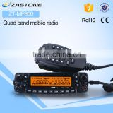 Transceiver ZASTONE MP-800 UHF/VHF/UU/VV quad band transceiver 50W powerful car radio with band cross function