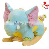 60*30*50cm Adorable SGS audited new design plush rocking animal chairs stuffed with PP cotton