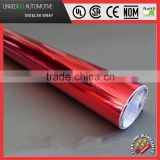 Best 1.52*30M Car Body Wrap Red Chrome Mirror Vinyl Wrap Sticker Decal Sheet Air Bubble Free
