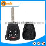 5 + 1 button remote key blank case shell with battery clamp holder and logo for Dodge charger RAM Journey