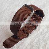 1.5mm Solid Color Ballistic Nylon Zulu Watch Strap
