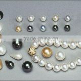 wholesale various colors and various shapes south sea shell pearl necklace pendant earring bracelet DIY loose beads