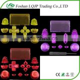 New crystal Full set button kits for PS4 controller For PlayStation 4 full crystal Button kits