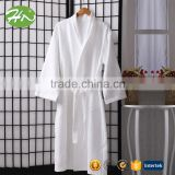 100% egyptian Cotton waffle Fabric Bath robe made in China