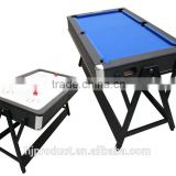 Hot selling 7' Modern stylish 2 in 1 Multi games table with Factory promotion. Air hockey table, Pool table.