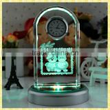 Handmade Unique Exquisite Crystal Projection Clock For New Year Business Gifts Souvenirs