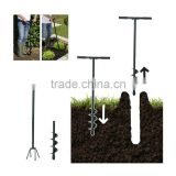 2 in 1 Garden Hand Manual Cultivator Earth Soil Drill Auger