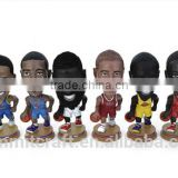 Resin basketball star action figure bobble head figurines