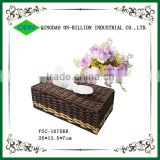 Handmade decorative recycled paper woven napkin holder basket