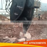 Excavator hydraulic vibrating ripper for breaking rock mountain