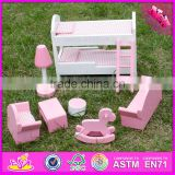 2016 new design baby wooden small furniture toy, wholesale kids wooden small furniture toy W06B046