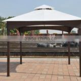 Outdoor metal decorative gazebo with metal roof beach sun shade tent