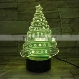 UCHOME 3d Illusion Lamp Christmas Tree Hot Selling Lamp