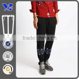 boys trend of black casual pants with printing design